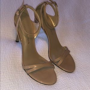 Stuart Weitzman nude stiletto sandals